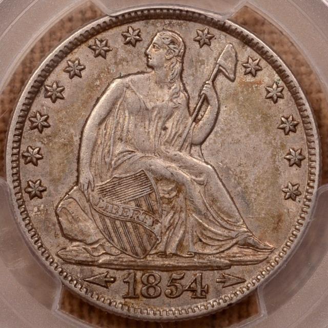 1854-O Arrows Liberty Seated Half Dollar PCGS AU50