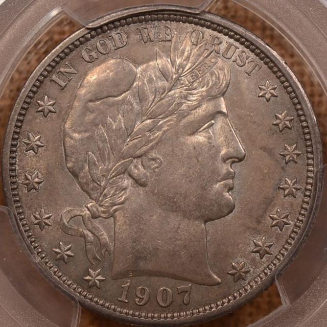 1907-D Barber Half Dollar PCGS AU55 (CAC)