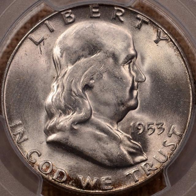 1953-S Franklin Half Dollar PCGS MS65