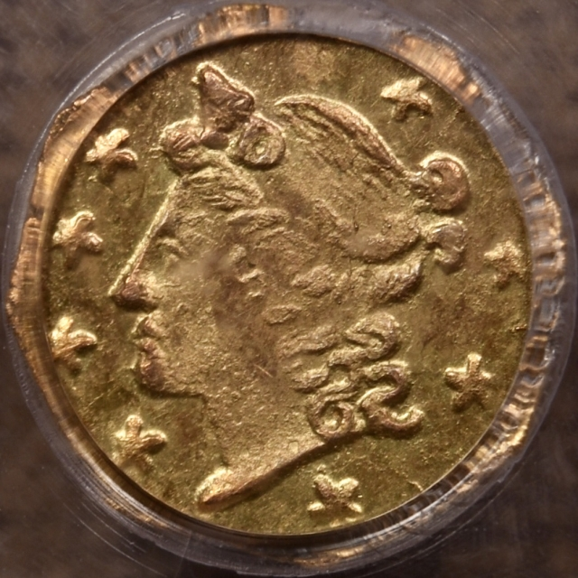 1859 BG-701 California Fractional Gold PCGS MS63