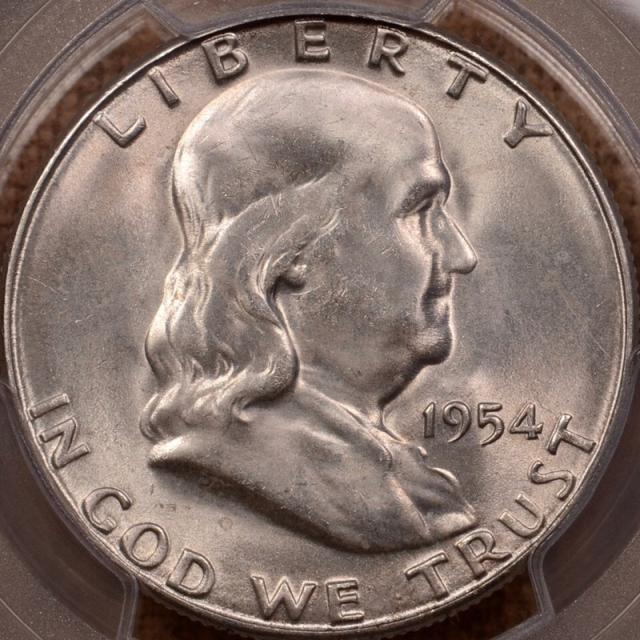 1954-S Franklin Half Dollar PCGS MS65