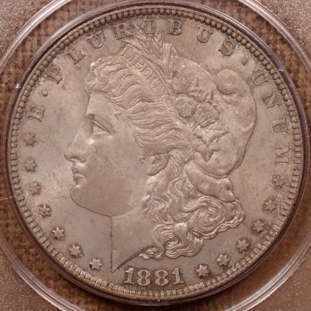 1881 Morgan Dollar PCGS MS63 Rattler