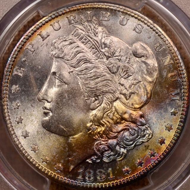 1881-S Morgan Dollar PCGS MS65 CAC