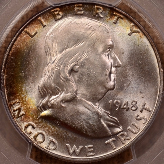 1948 Franklin Half Dollar PCGS MS64FBL