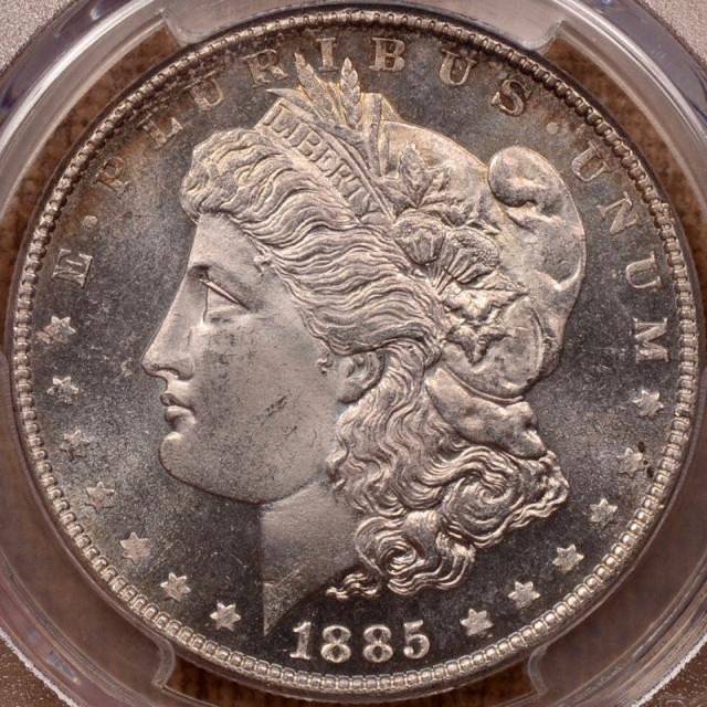 1885 Morgan Dollar PCGS MS64DMPL (CAC)