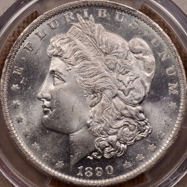 1890-O Morgan Dollar PCGS MS64+PL (CAC)