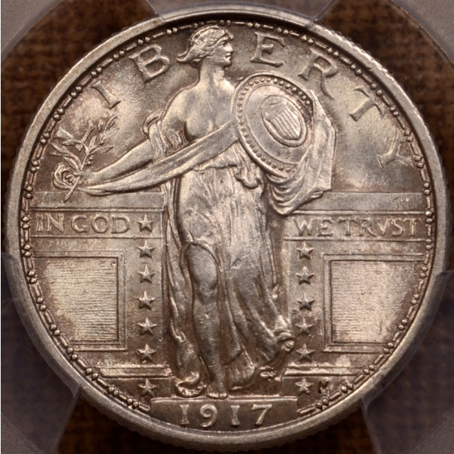 1917 Type 1 Standing Liberty Quarter PCGS MS64 FH CAC