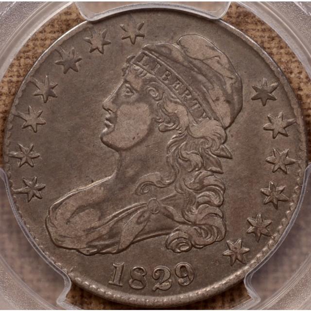 1829 O.104 R5+? Capped Bust Half Dollar PCGS VF35