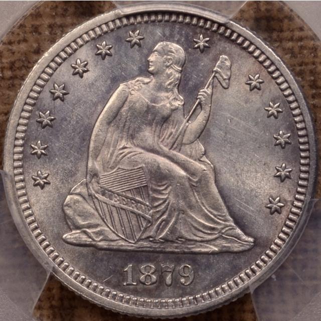 1879 Liberty Seated Quarter PCGS MS62 (CAC)