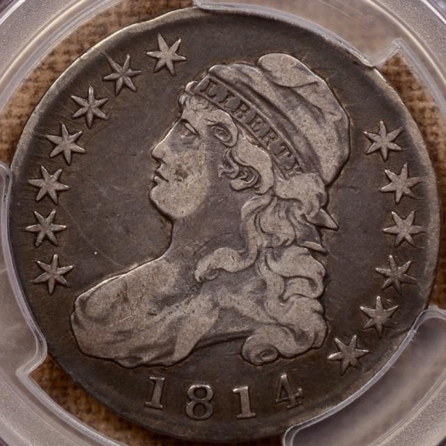 1814 O.109 Capped Bust Half Dollar PCGS VF20