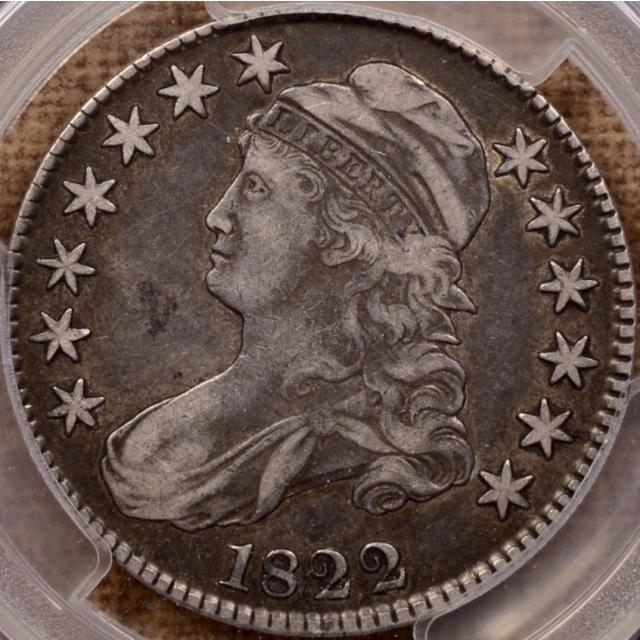 1822/1 O.101 Capped Bust Half Dollar PCGS VF35