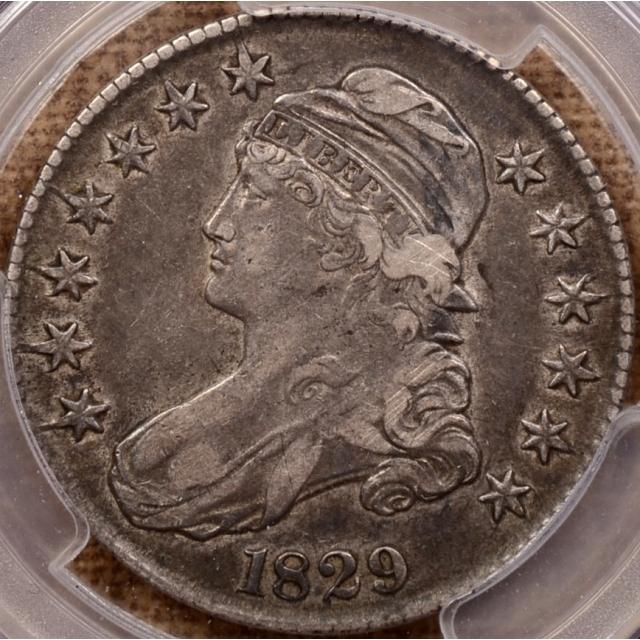 1829 O.109 R4+ Capped Bust Half Dollar PCGS XF40