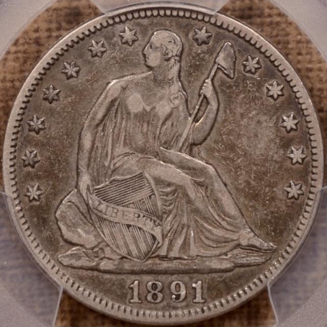 1891 Liberty Seated Half Dollar PCGS VF30