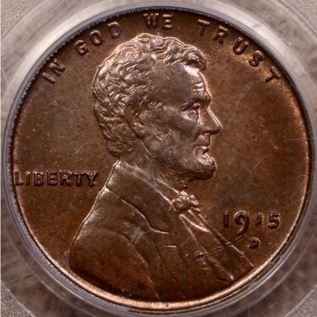 1915-D Lincoln Cent PCGS MS64 BN