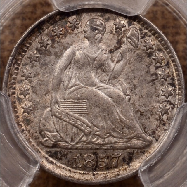 1857 Liberty Seated Half Dime PCGS MS62