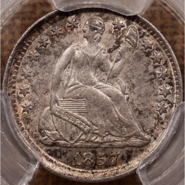 1857 Liberty Seated Half Dime PCGS MS62