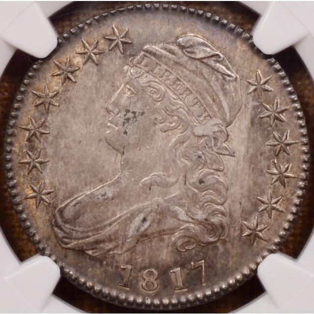 1817 O.103(b) R6? Capped Bust Half Dollar NGC AU50 (CAC)