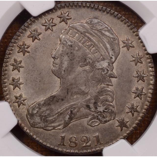 1821 O.104/O.104a Capped Bust Half Dollar NGC AU50 CAC