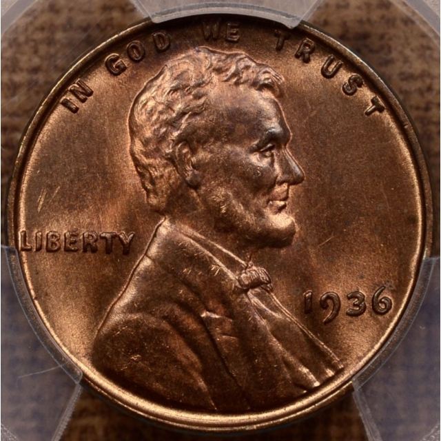 1936 DDO Type 1 Lincoln Cent PCGS MS65RB (CAC)