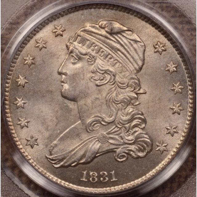 1831 B.1 Small Letters Capped Bust Quarter PCGS MS63 (CAC), from my Box of 20