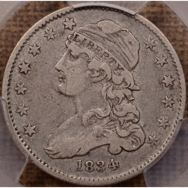 1834 B.1 Capped Bust Quarter PCGS VF30