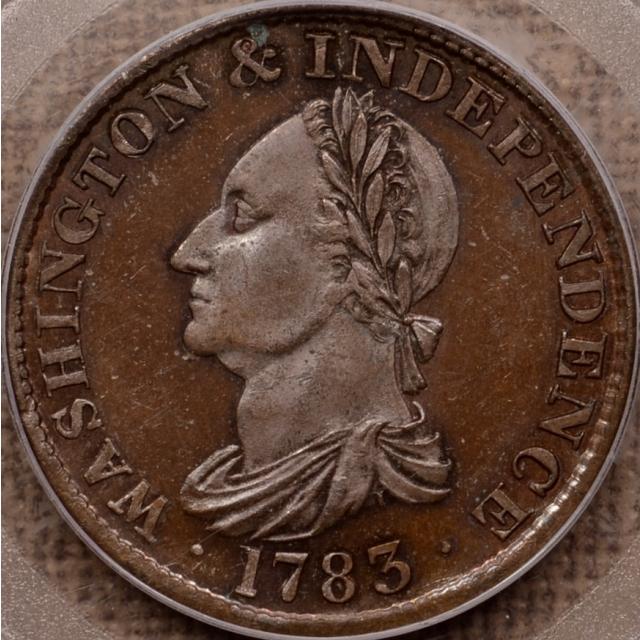 1783 Draped Res Copper Washington, PCGS PR64 BN OGH