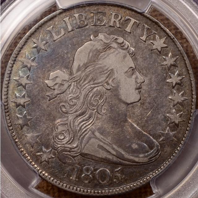 1805/4 O.101 Draped Bust Half Dollar, PCGS VF35 (CAC), ex. Pittman