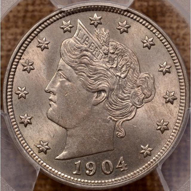 1904 Liberty Nickel PCGS MS63