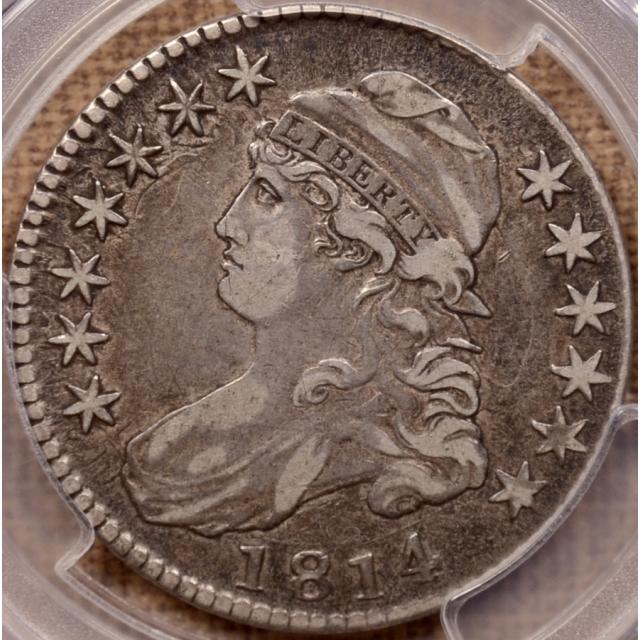 1814 O.108a E/A Capped Bust Half Dollar PCGS VF35 CAC
