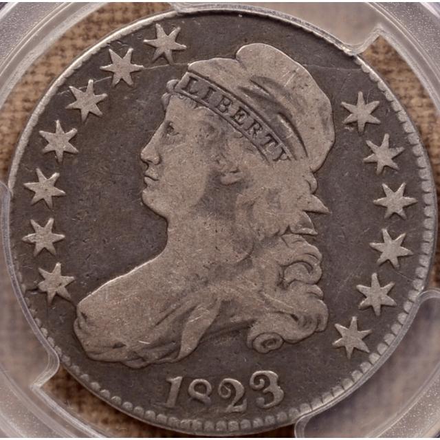 1823 O.109 R5+ Capped Bust Half Dollar PCGS VG10 CAC