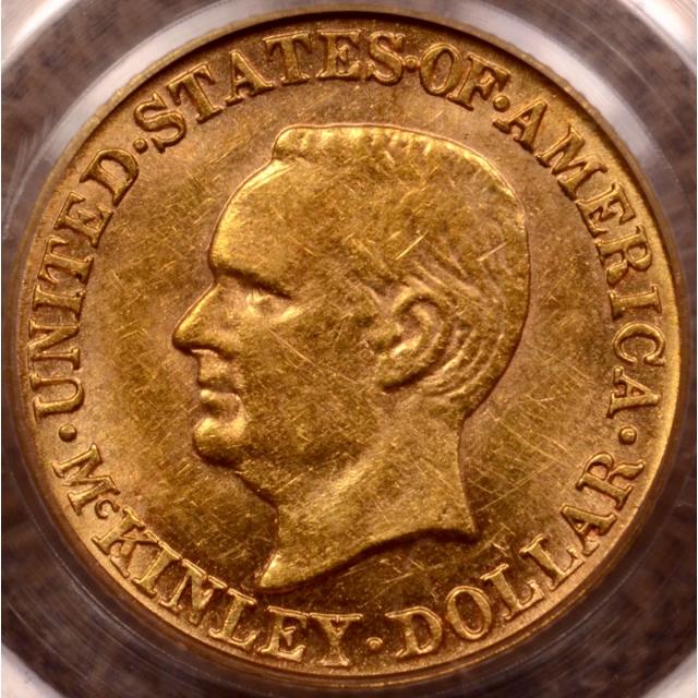 1916 McKinley Gold Dollar PCGS AU58 (CAC) OGH
