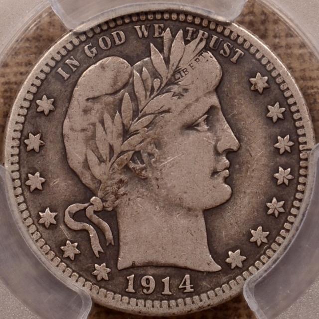 1914-S Barber Quarter PCGS VF20 (CAC)