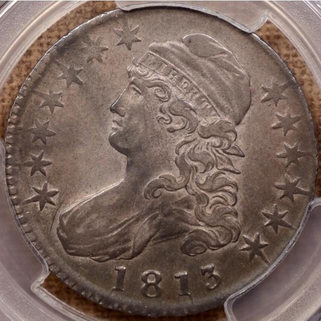 1813 O.104 R4 Capped Bust Half Dollar PCGS XF45 (CAC)