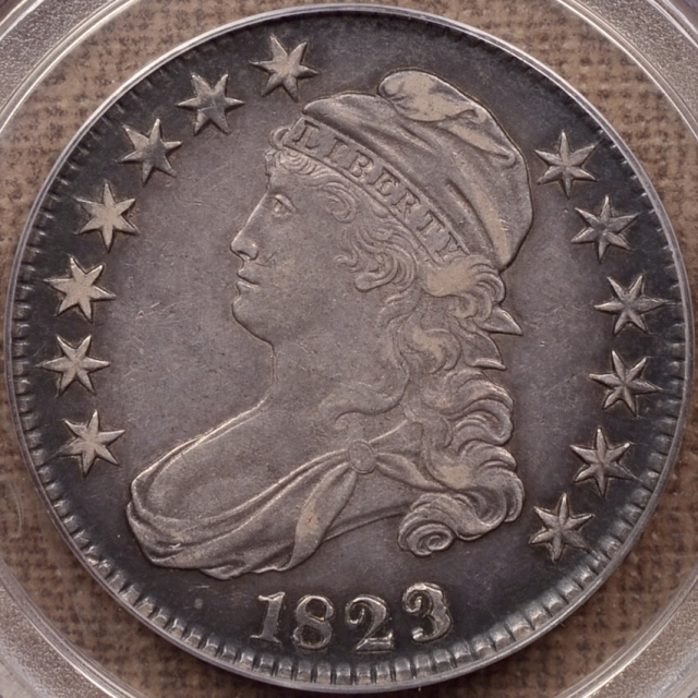 1823 O.110a Ugly 3 Capped Bust Half Dollar PCGS XF40, ex. Charles DeOlden