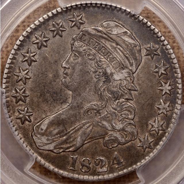 1824 O.116 Capped Bust Half Dollar PCGS XF45