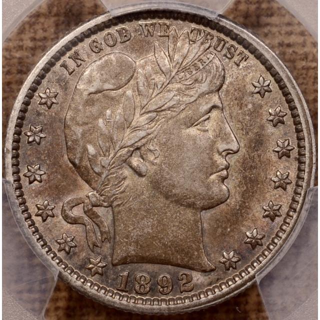 1892 Barber Quarter PCGS AU55