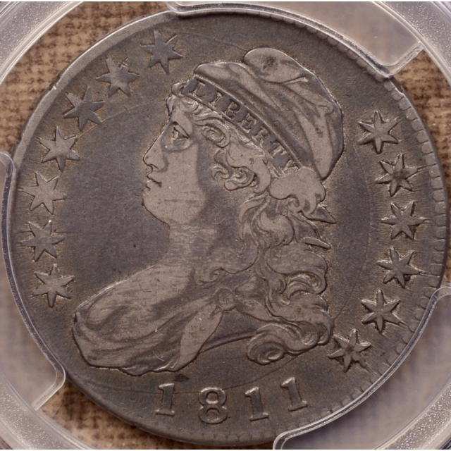 1811 O.104a Large 8 Capped Bust Half Dollar PCGS VF30