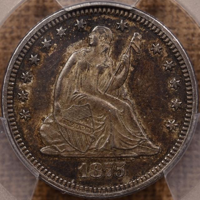 1875 Liberty Seated Quarter PCGS AU55