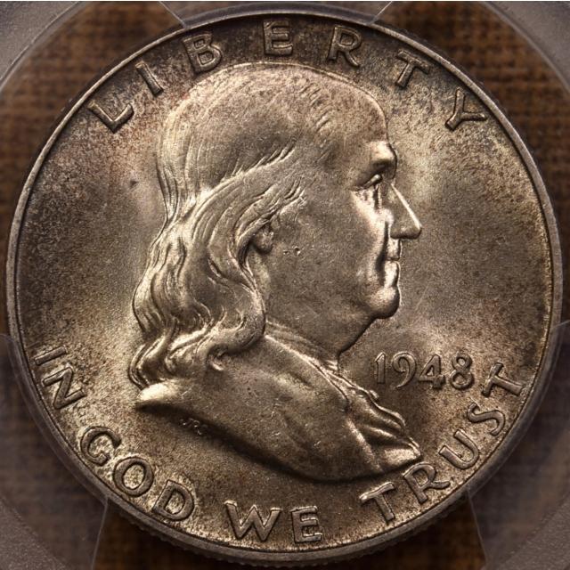 1948 Franklin Half Dollar PCGS MS64 FBL