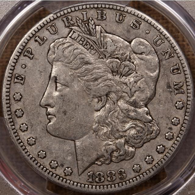 1883-CC Morgan Dollar PCGS XF40, New England hoard