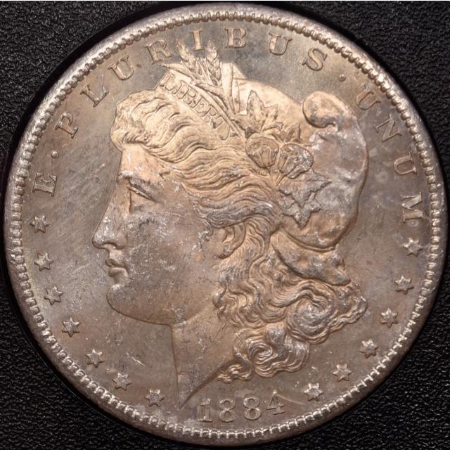 1884-CC GSA Morgan Dollar NGC MS64 CAC, expected Gold CAC