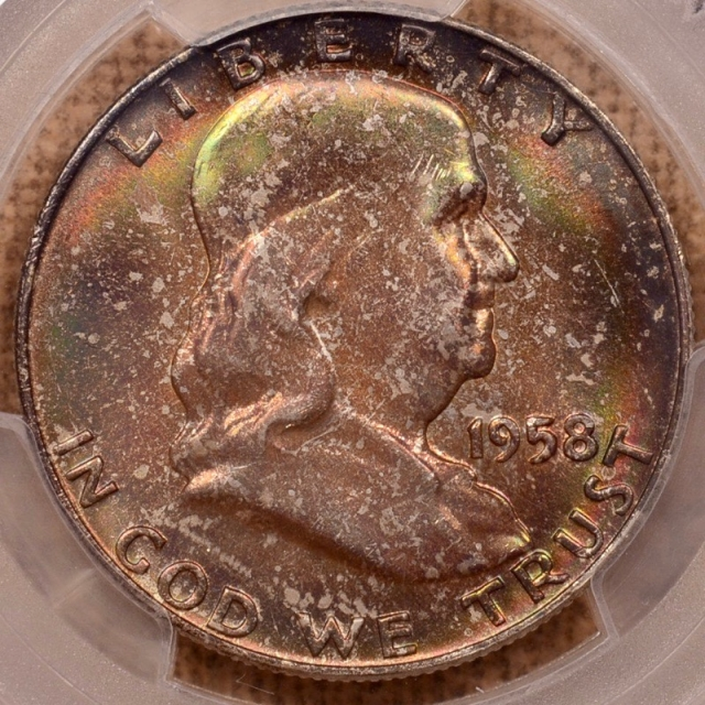 1958-D Franklin Half Dollar PCGS MS66+FBL CAC