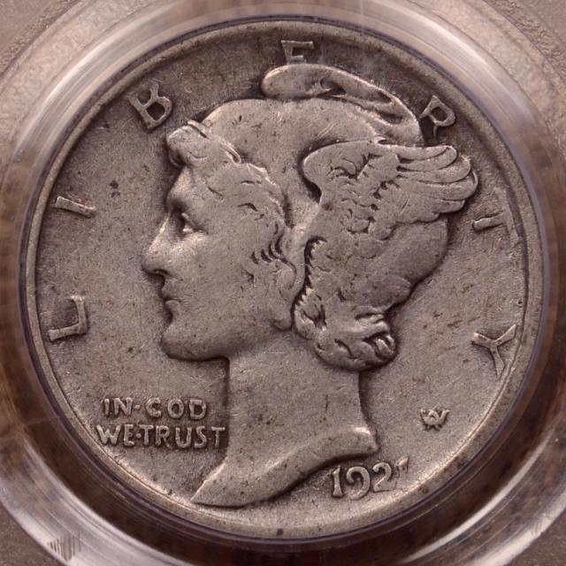 1921 Mercury Dime PCGS VF20