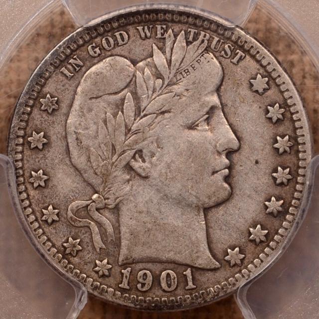 1901-O Barber Quarter PCGS VF20 (CAC)