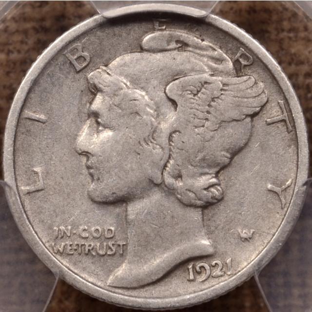 1921 Mercury Dime PCGS VF30