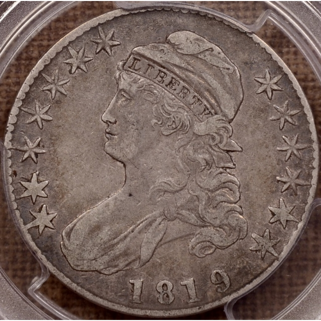1819/8 O.104 Large 9 Capped Bust Half Dollar PCGS VF30 CAC